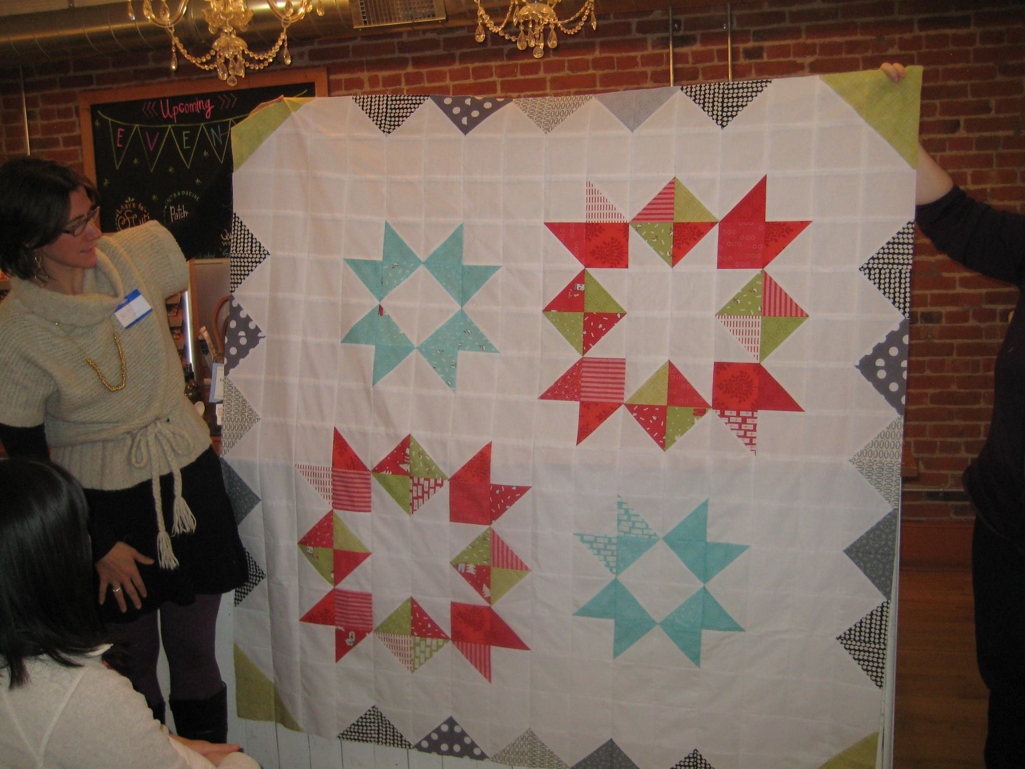 Britt's Christmas quilt